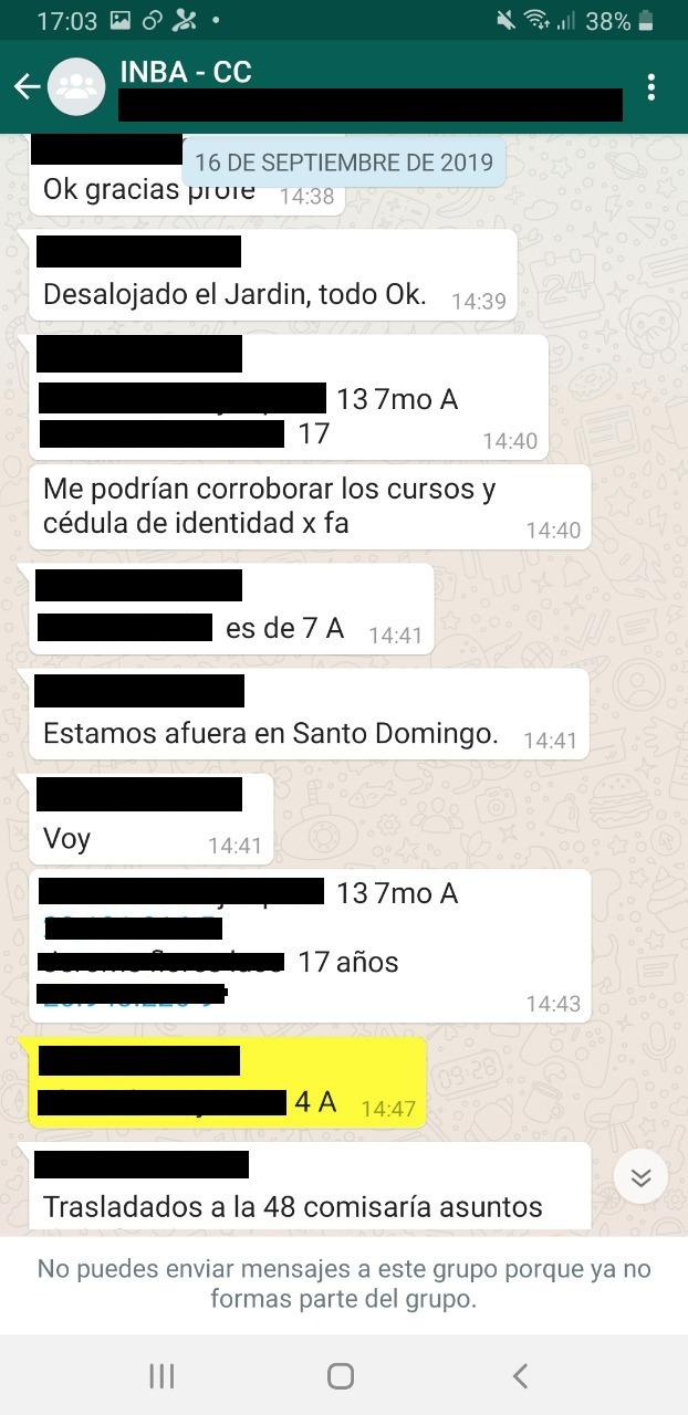 En amarillo, Gajardo entrega el curso y nombre de estudiante menor de edad detenido