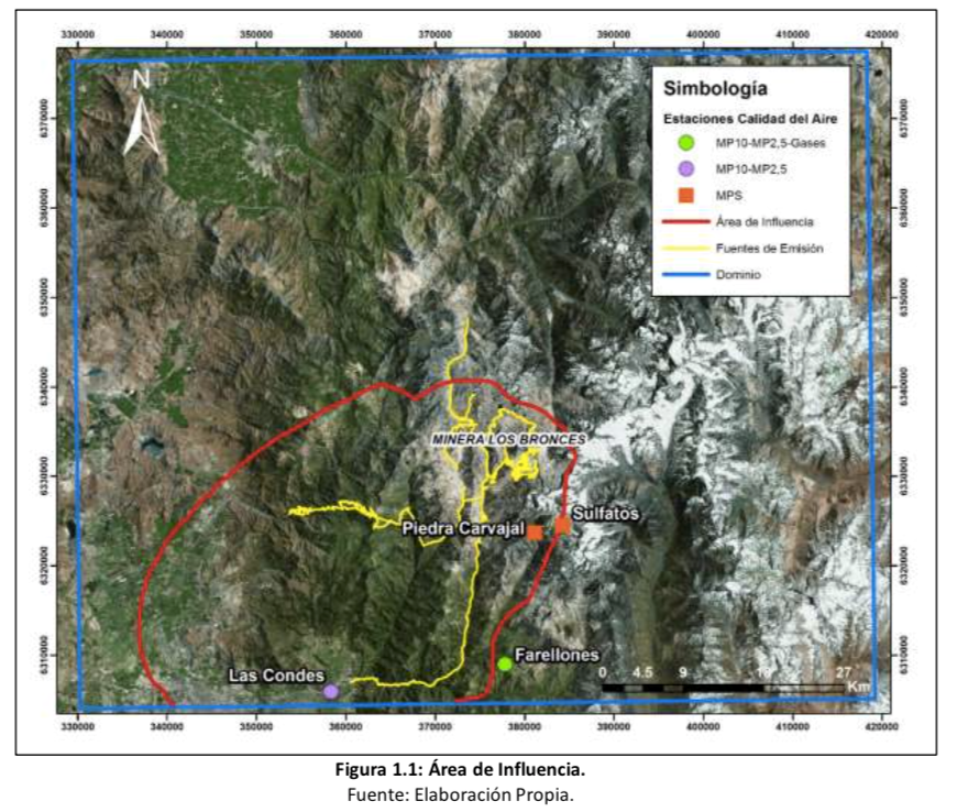 Documento preparado para Anglo American por la consultora GeoAire, disponible en el Estudio de Impacto Ambiental (02-Anexos Capítulo 3 - 1 de 6, Part II, p.6).