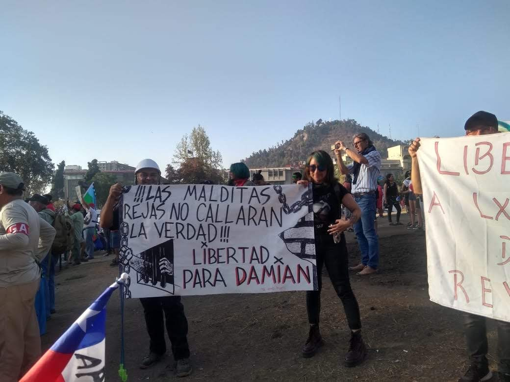 Una de las manifestaciones mientras Damian Toro estaba en prisión preventiva