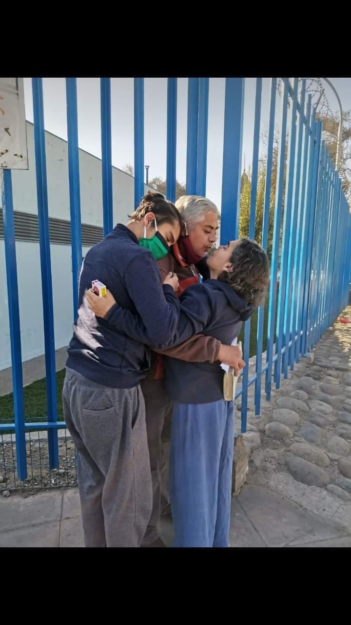 Salida de la cárcel de Santiago 1 del padre de Rodrigo  Villagra Benvenutto