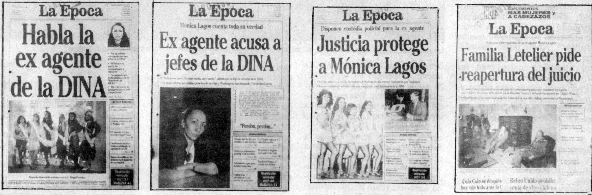 Algunas portadas del golpe noticioso