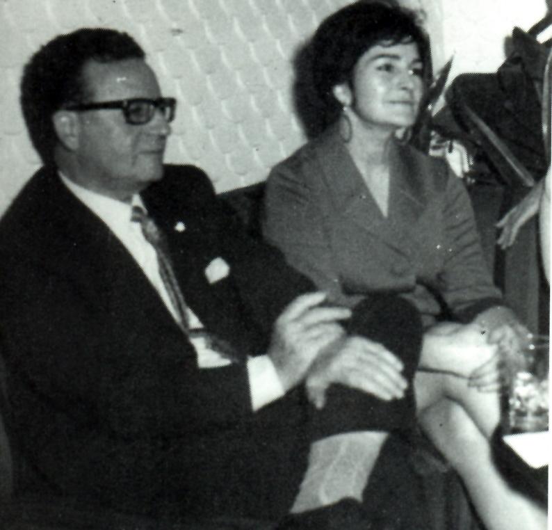 Allende e Inés Moreno en 1966. Archivo de Eduardo Labarca