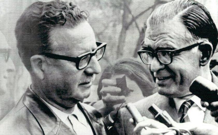 Allende y Tomic el 5 de septiembre de 1970.