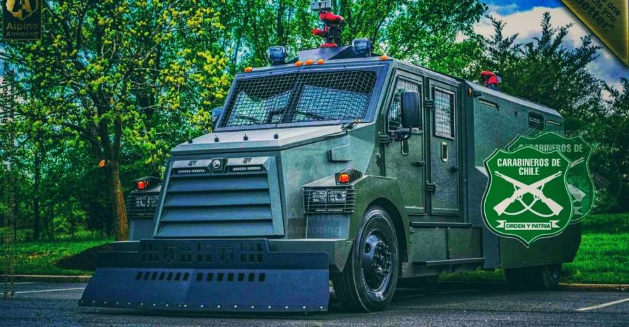 Alpine RCT4 año 2020. Créditos, Alpine Armoring Inc.