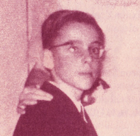 Jaime como alumno en el colegio Sagrados Corazones.