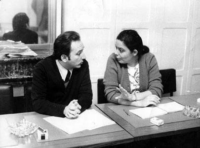 Jorge Arrate y Beatriz Allende en París en 1974