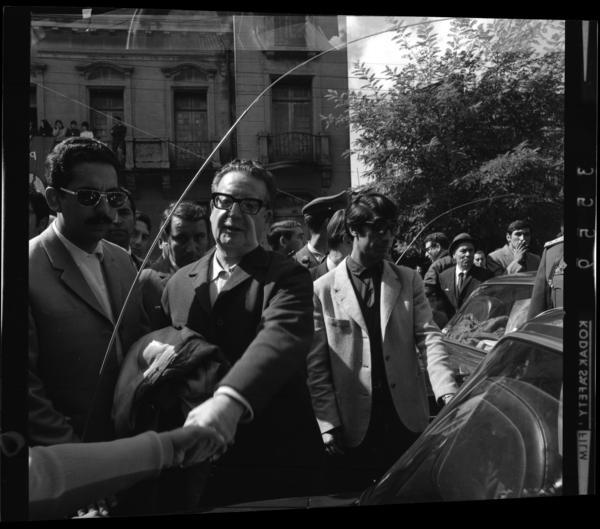 Salvador Allende llega a Temuco en marzo de 1971, en el marco de la Reforma Agraria. Fotografía Armindo Cardoso