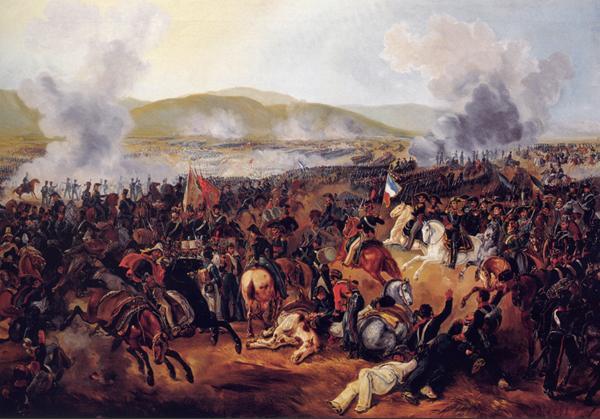 'Batalla de Maipú', de Mauricio Rugendas, pintado en 1837