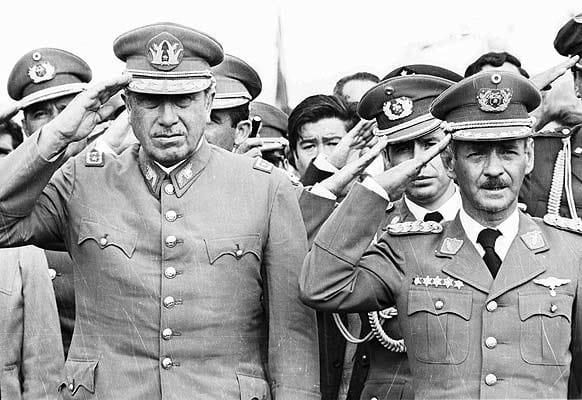 Banzer y Augusto Pinochet.