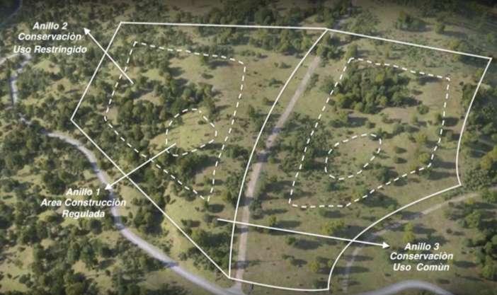 Mapa y modelo del proyecto ubicado en Lo Barnechea.