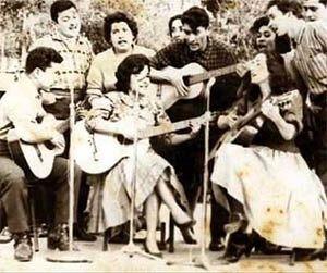 Héctor Pavez cantando con Gabriela Pizarro