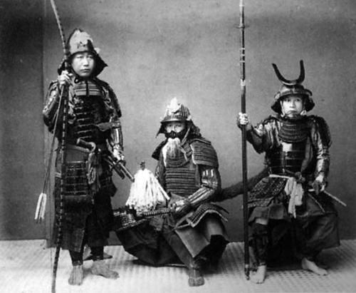 Grupo de samurais en 1890.