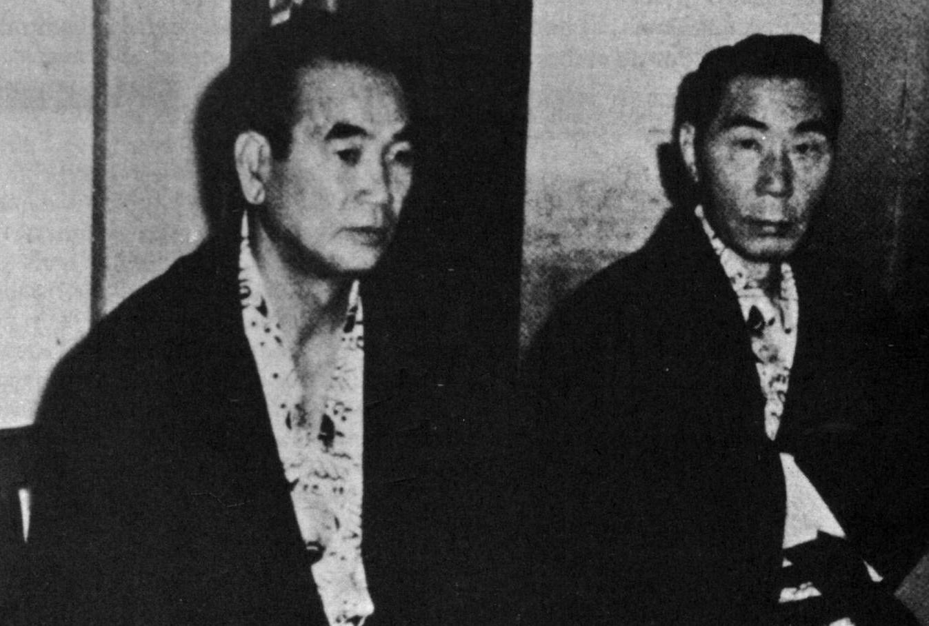 Taoka y Inagawa, jefes yakuza.