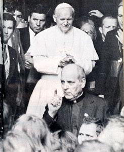 Paul Marcinkus y Juan Pablo II