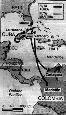La ruta de la conexión cubana.