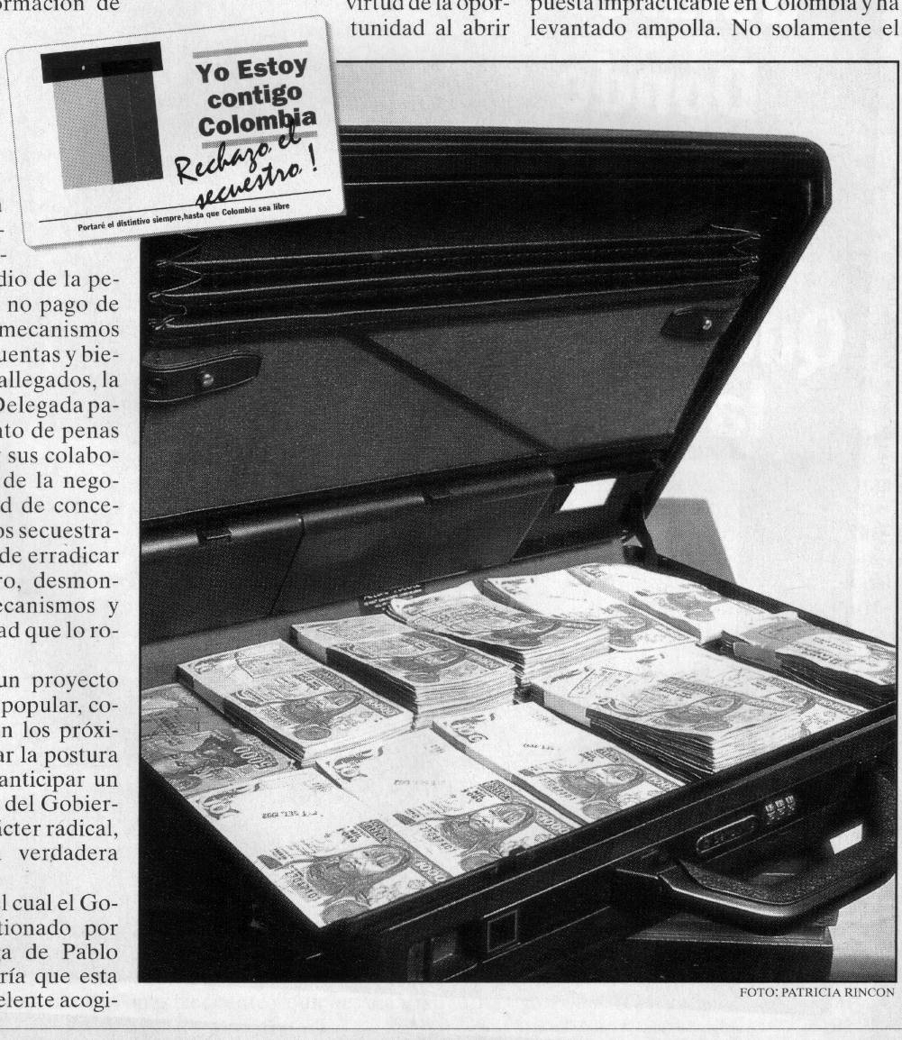 Campaña contra este delito en la prensa colombiana.