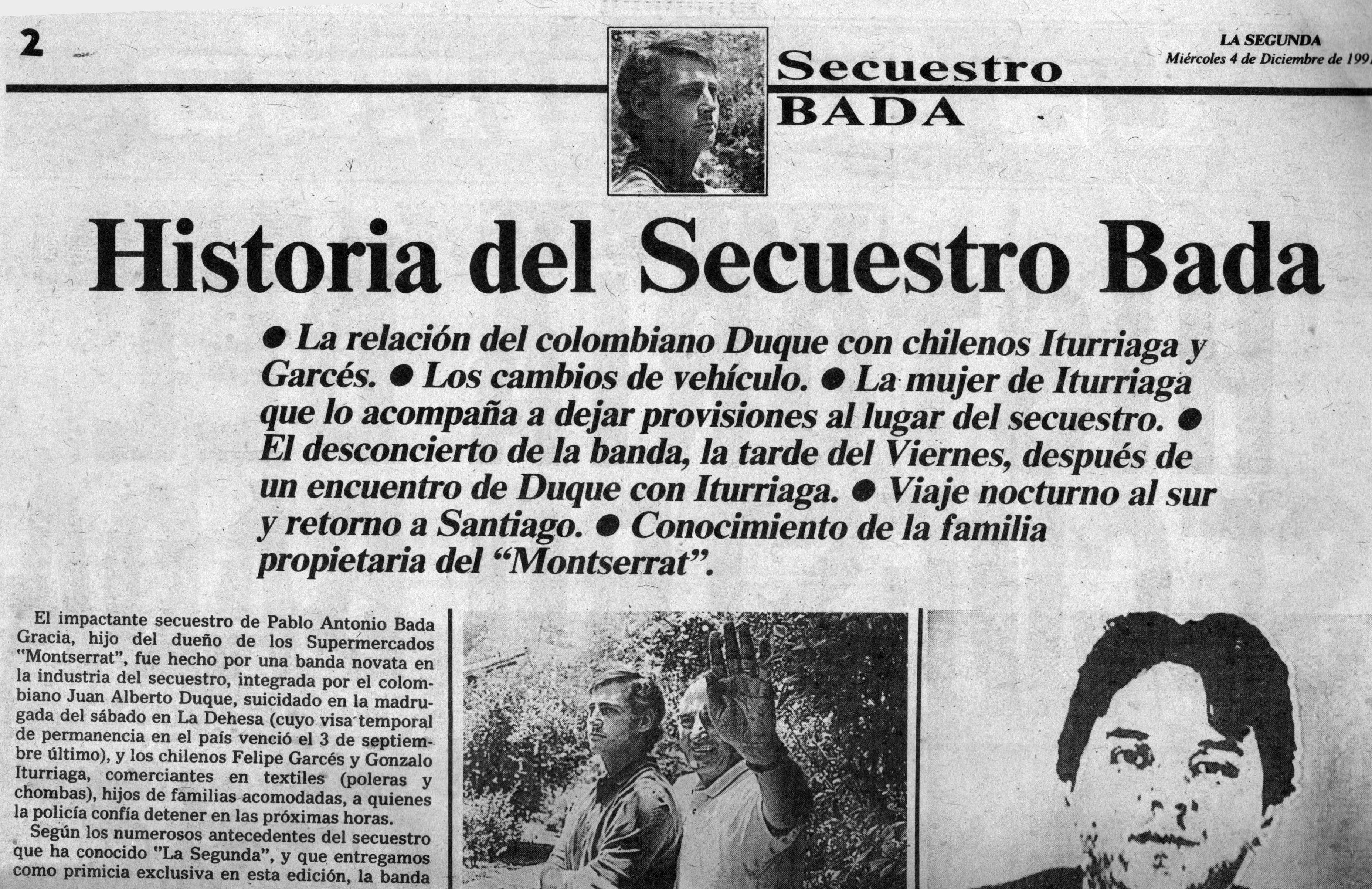 Secuestro de industrial en Chile.