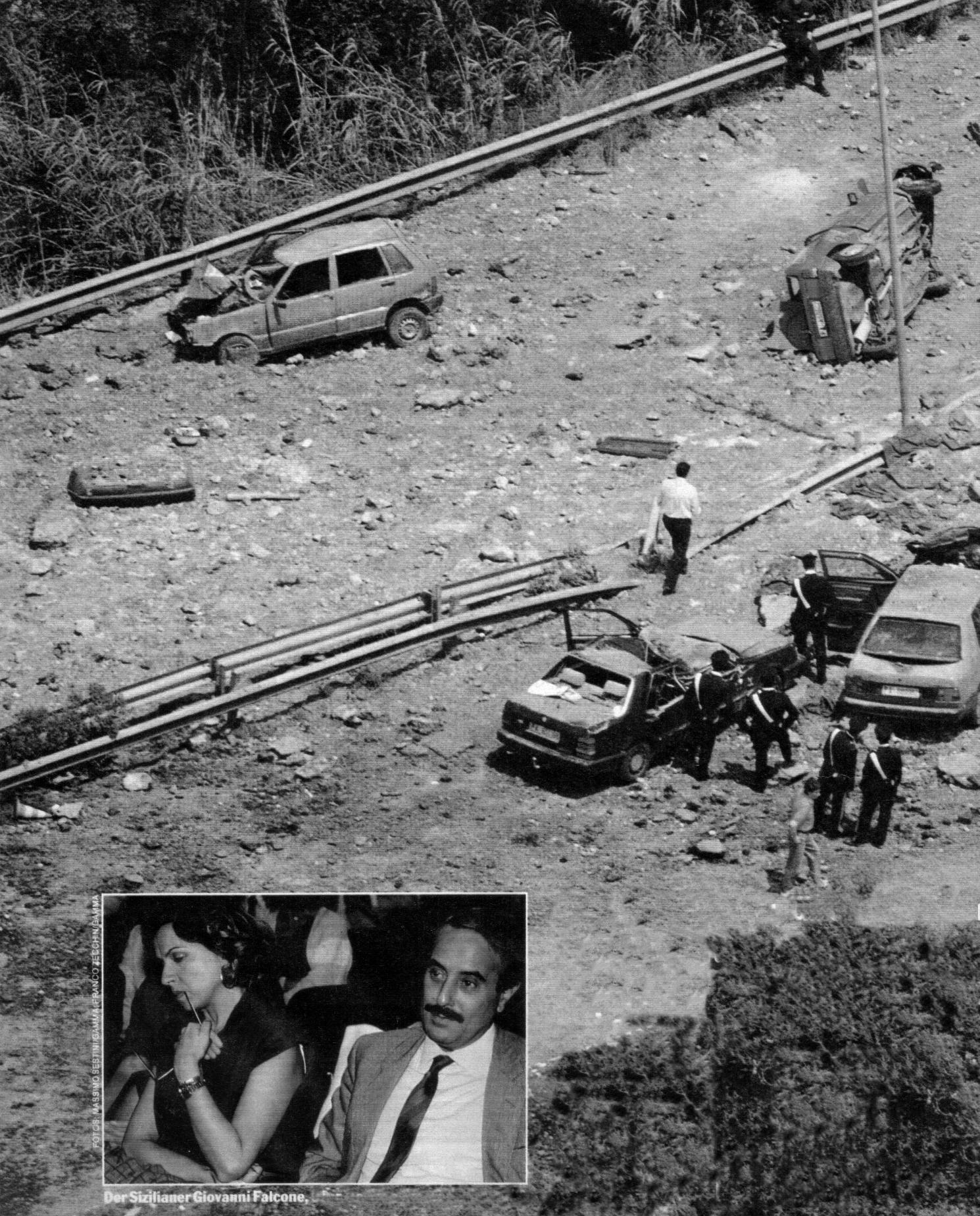 El asesinato de Giovanni Falcone y su esposa.
