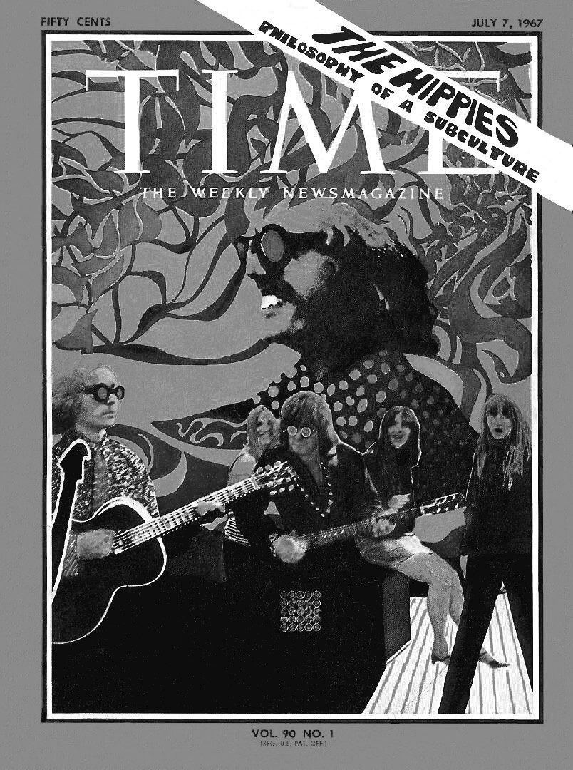 Los hippies en la portada de la revista Time en 1967.
