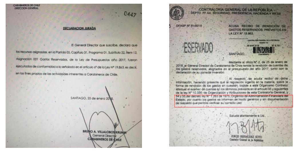 Última página de la rendición de Villalobos y la respuesta de Jorge Bermúdez