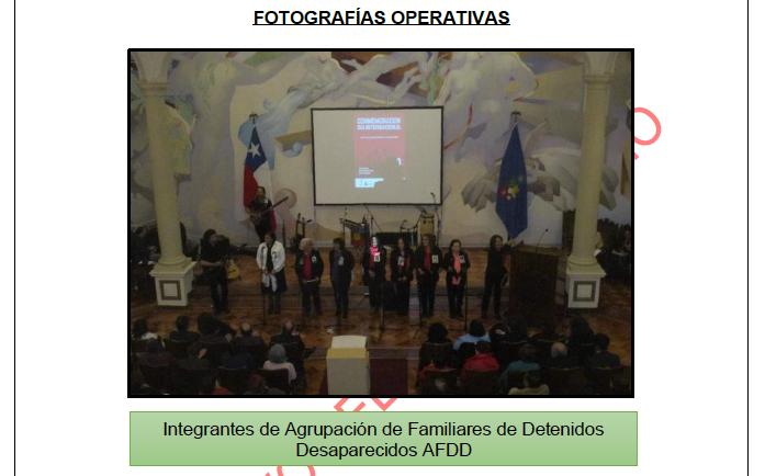 Imagen tomada durante el acto en la Universidad de Chile. Foto: Interferencia