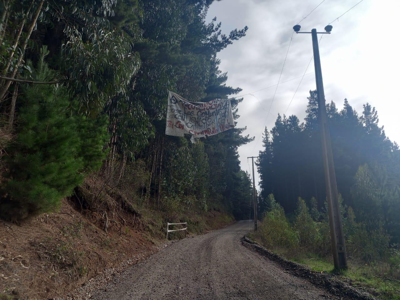 Entrada del Fundo Santa Ana de Forestal Mininco
