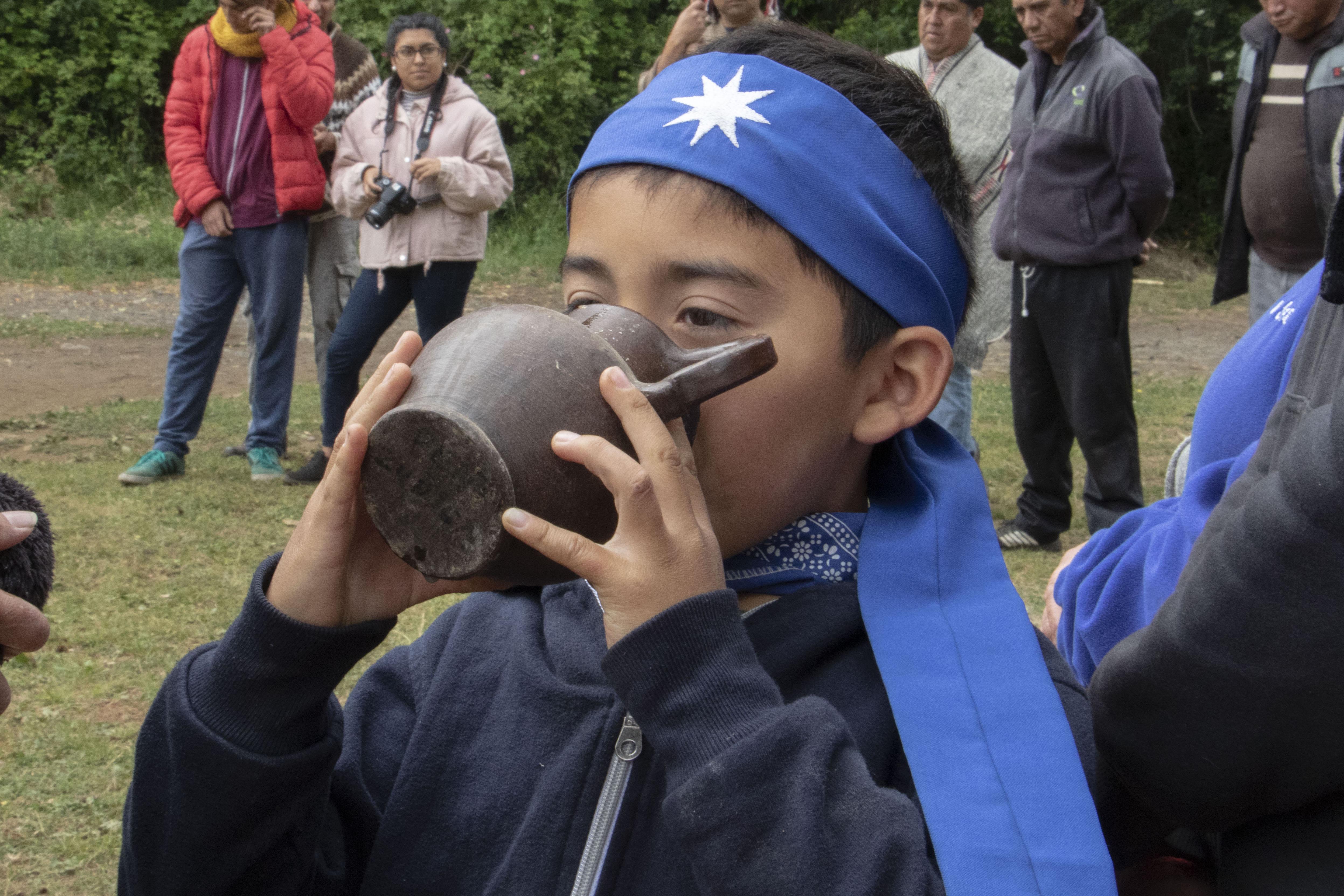 Ceremonia de la comunidad Liempi Colipi. Fotografía Catalina Mundaca