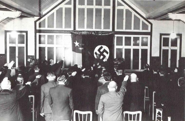 Chilenos nazis en el sur.
