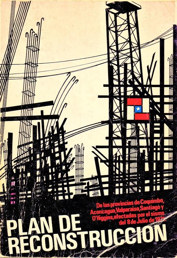 Afiche del Plan de Reconstrucción para el sismo del 8 de julio de 1971