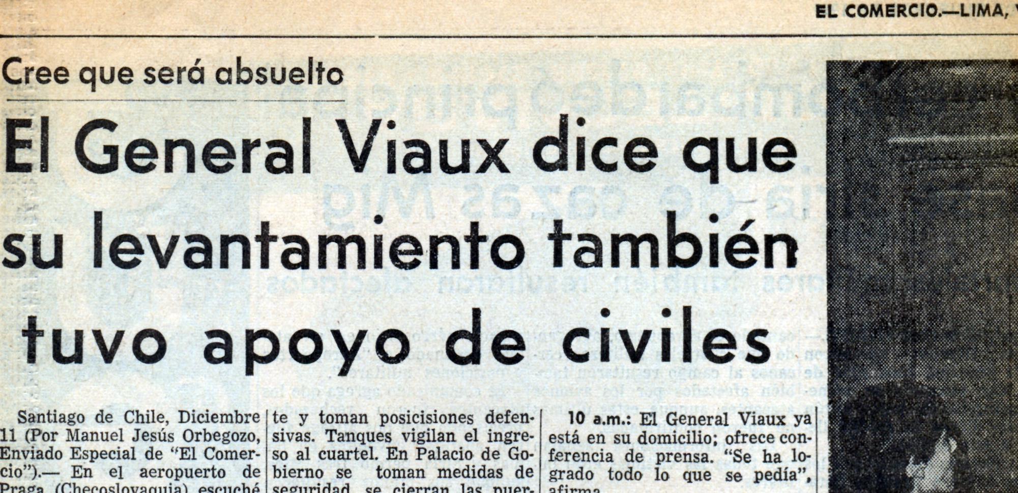 El Comercio de Lima, diciembre de 1969
