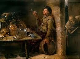 'El fumador y la muerte', cuadro de Joos Van Craesbeeck