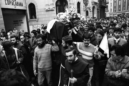 Funeral de Clotario Blest (Archivo Fortín Mapocho)