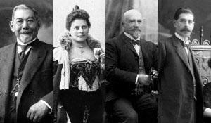 Elías Braun Fucks, Sara Braun Hamburguer, José Menéndez y Mauricio Braun.