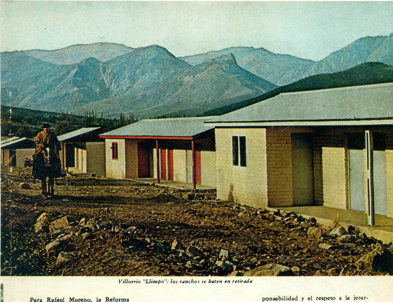 En el villorrio Llimpo las casas reemplazan a los ranchos. Foto de Hernán Castillo.