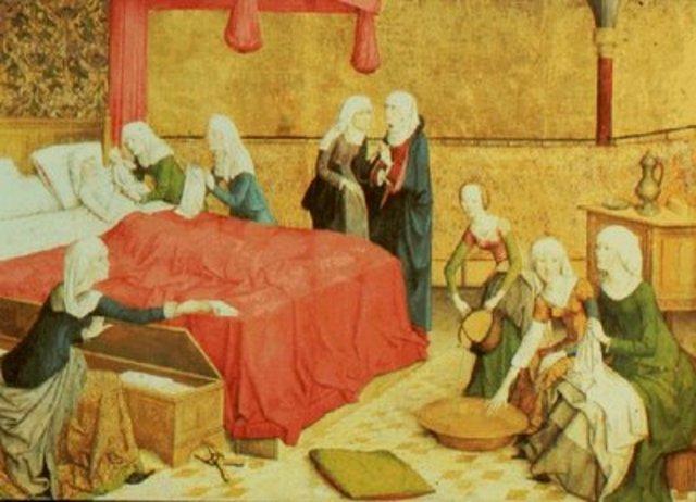 Enfermeras en la Edad Media.