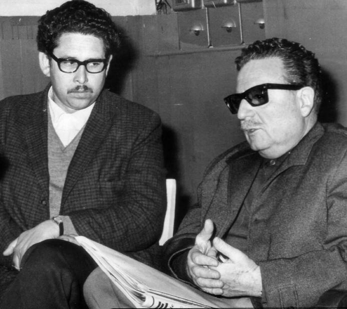 Exequiel Ponce V. junto a Salvador Allende.