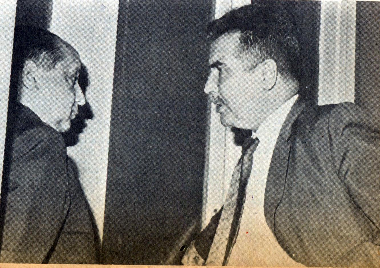 Tomás Chadwick con Bernardo Leighton. Fotos de René Barra.