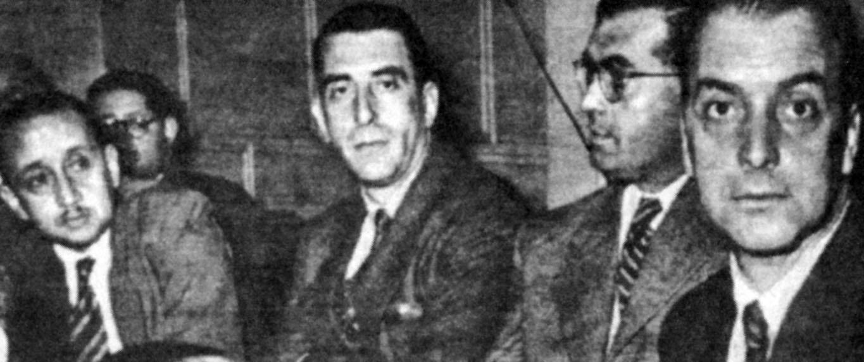 Los albores de la Falange: Bernardo Leighton, Eduardo Frei, Radomiro Tomic e Ignacio Palma.