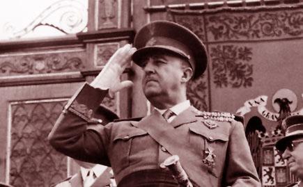 Francisco Franco, a quien Guzmán admiraba.