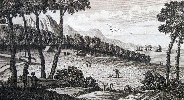 La isla en 1790 en grabado de la época
