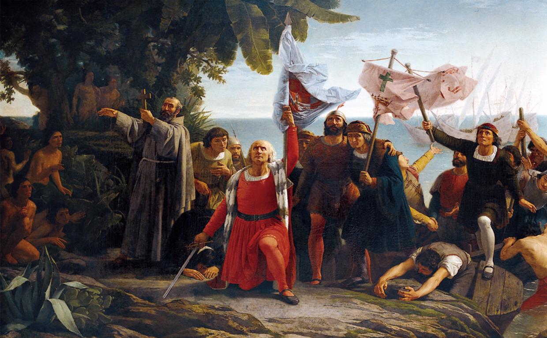 Llegada de Cristóbal Colón a Cuba
