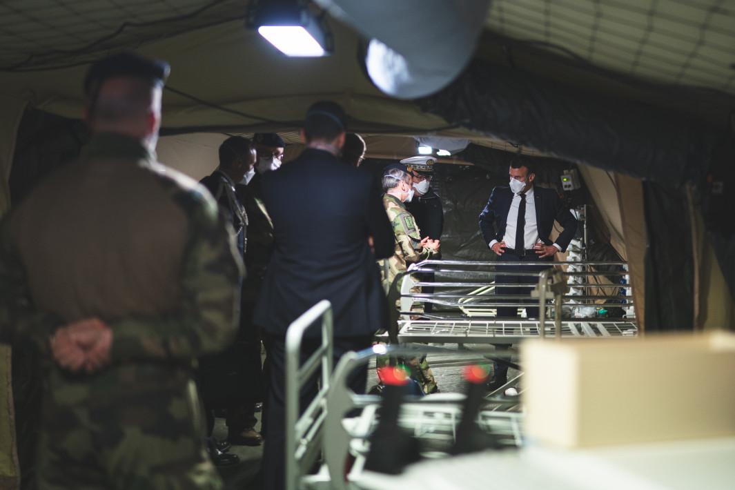 Emmanuel Macron, el 25 de marzo.