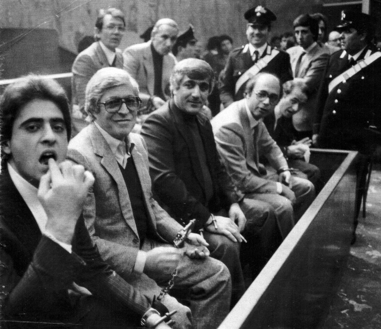 Mafiosos italianos procesados en Palermo.