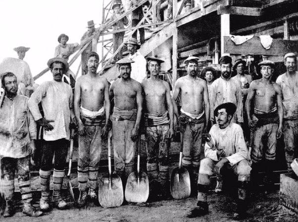 Mineros del salitre.