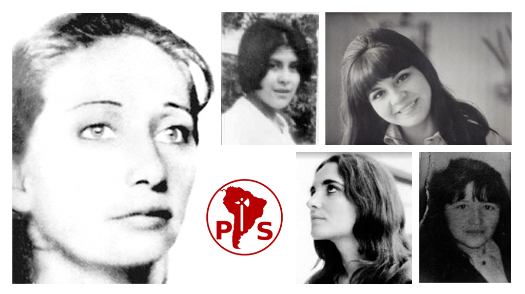 Carolina Wiff, Mireya Rodríguez (arriba a la izq.), Sara Donoso (arriba a la der.), Michelle Peña (abajo a la izq.), Rosa Soliz (abajo a la der.).