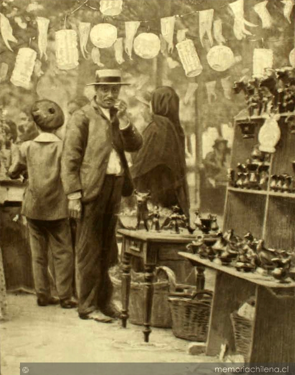 Navidad en 1906. Foto: Memoria Chilena