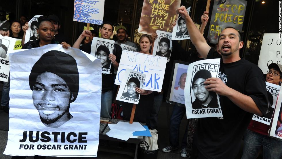 Protestas tras el asesinato de Oscar Grant. Fotografía CNN US