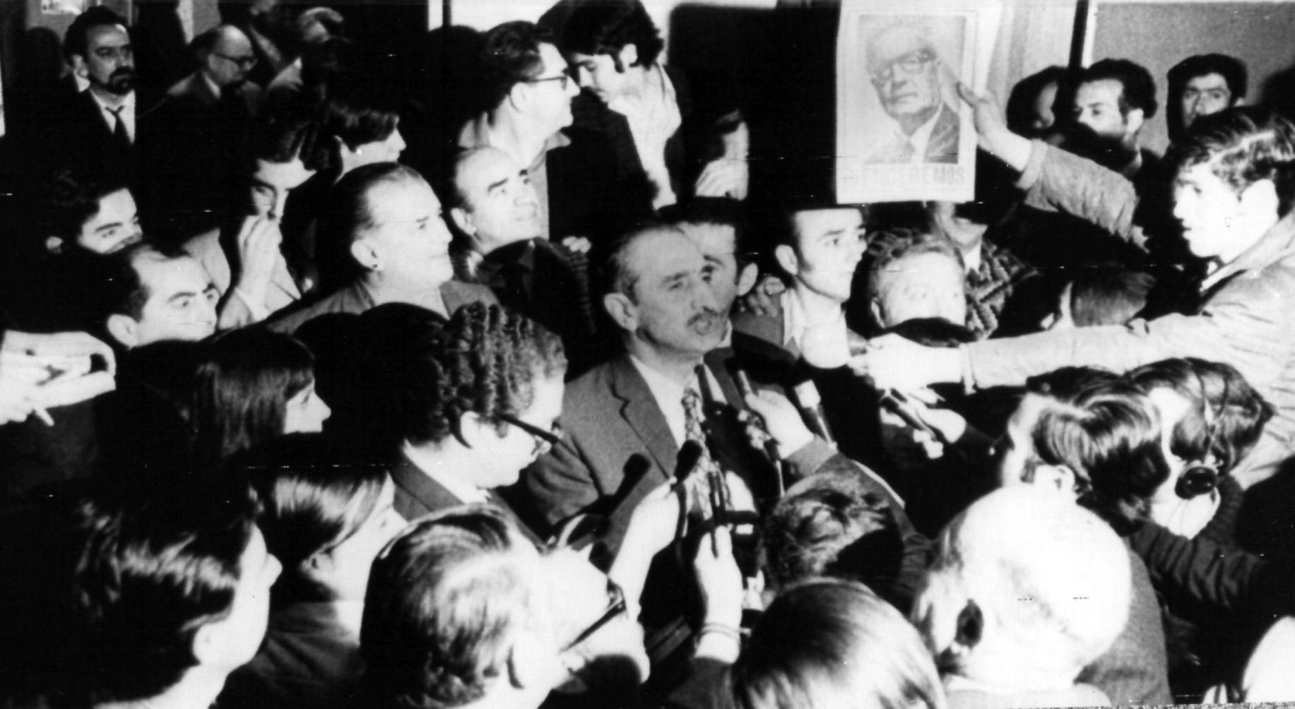 Rafael Tarud anuncia el triunfo el 4 de septiembre.
