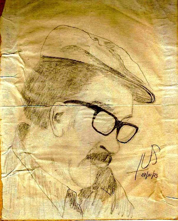 Retrato realizado por el Tata Sánchez, un viejo obrero detenido en Chacabuco