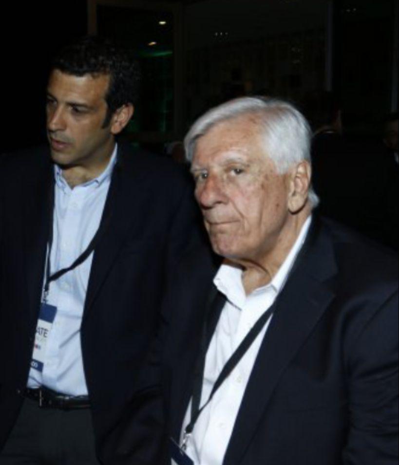 Rodrigo Delgado y Raúl Torrealba, cuando eran colegas alcaldes de Estación Central y Vitacura en el debate presidencial de 2017 en el Diario Financiero.